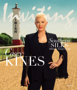 Inviting Arkansas front cover, Casey Kines of Southern Silks