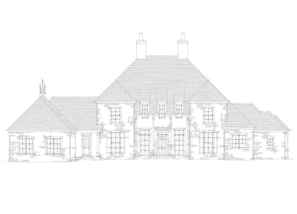 Sketching of a Custom Home in Arkansas